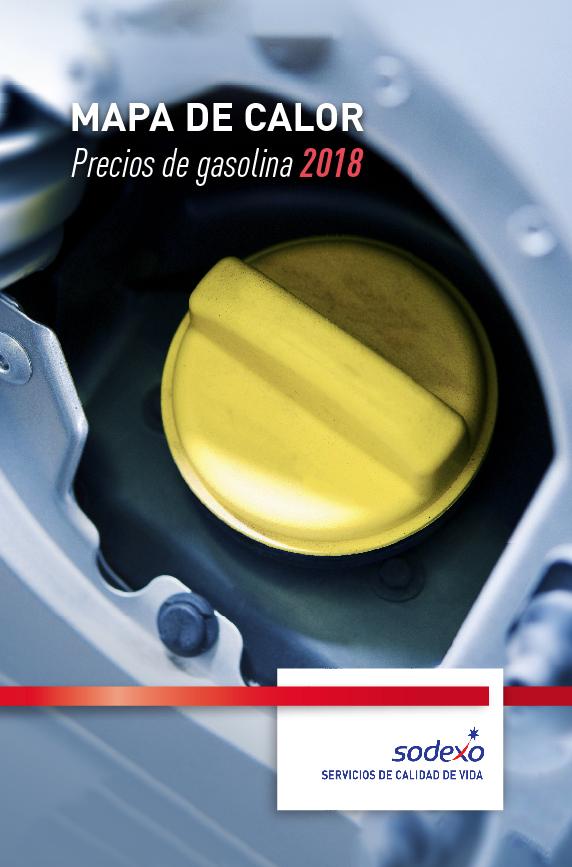 Mapa de calor - Ebook precios gasolina 2018